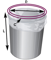 measuring-Round-Container